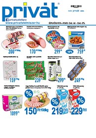 Privát Élelmiszer akciós újság 2021. 04.14-04.25