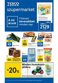 Tesco szupermarket akciós újság 2021. 04.15-04.21