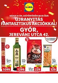 Lidl Győr akciós újság 2021. 05.13-05.16