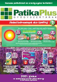 PatikaPlus akciós újság 2021. 06.01-06.30