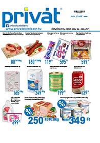 Privát Élelmiszer akciós újság 2021. 06.16-06.27
