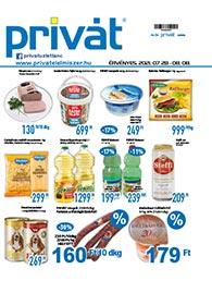 Privát Élelmiszer akciós újság 2021. 07.28-08.08