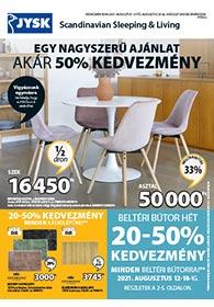JYSK akciós újság 2021. 08.12-08.25