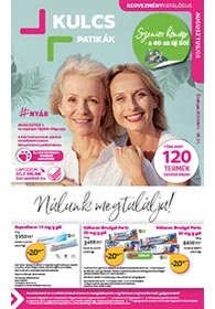 Kulcs patika akciós újság 2021. 08.01-08.31