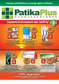 PatikaPlus akciós újság 2021. 08.01-08.31