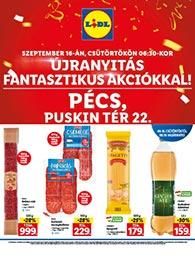 Lidl Pécs akciós újság 2021. 09.16-09.19