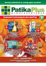 PatikaPlus akciós újság 2021. 09.01-09.30