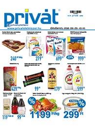 Privát Élelmiszer akciós újság 2021. 09.29-10.10