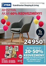 JYSK akciós újság 2021. 10.14-10.27