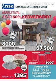 JYSK akciós újság 2021. 10.21-11.03