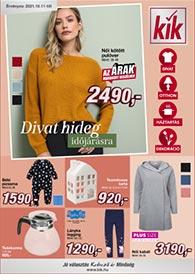 Kik textil akciós újság 2021. 10.11-től