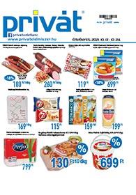 Privát Élelmiszer akciós újság 2021. 10.13-10.24